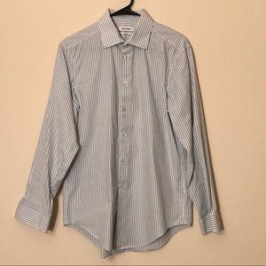 Calvin Klein Men's Stripe Slim Fit Shirt (A)